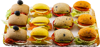Assortiment 12 mini sandwichs