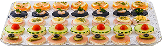Assortiment 35 toasts variés